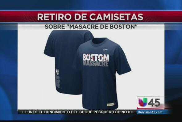 Una camiseta diseñada hace varios años por fanáticos de los Yankees fue...