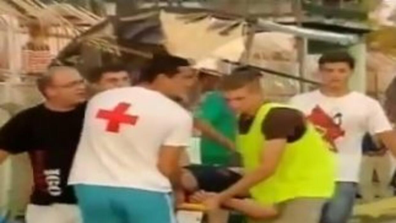 Tras la explosión varios aficionados resultaron lesionados.