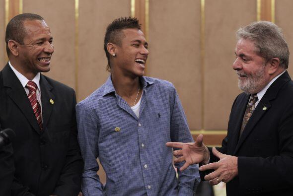 Junto al presidente Lula en una invitación del gobierno de Brasil...
