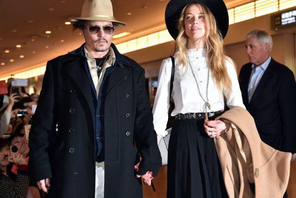 Johnny y Amber viajaron a Japón el 26 de enero.
