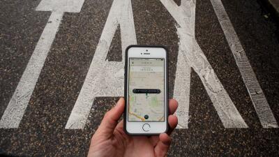 Aplicación de Uber para teléfonos móviles.