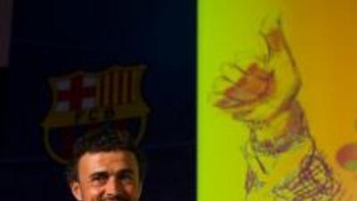 Luis Enrique fue bienvenido en su vuelta al Barcelona.