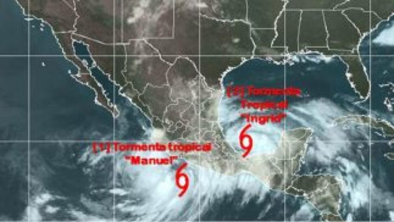 Las tormentas tropicales Ingrid y Manuel provocan que varias entidades d...