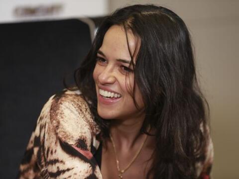 La actriz  Michelle Rodríguez.