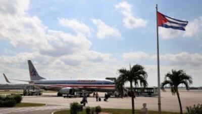 Un vuelo charter de American Airlines en La Habana