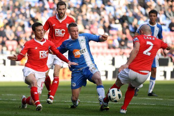 El Wigan enfrentó al Birmingham y se llevó una importante victoria por 2...
