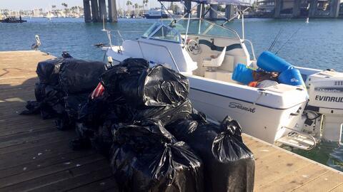 Casi media tonelada de marihuana fue encontrada en el bote de pesca.