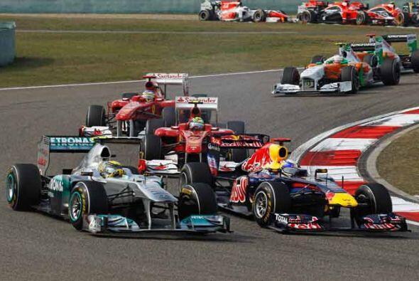 La pelea por los primeros lugares fue cerrada, pero los Red Bull demostr...