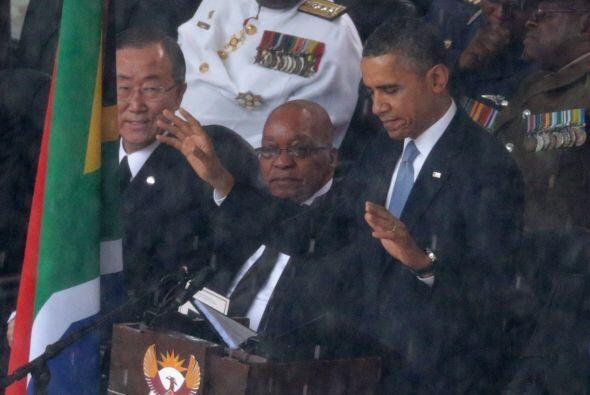 El presidente de EEUU, Barack Obama, pronunció un discurso durante la ce...