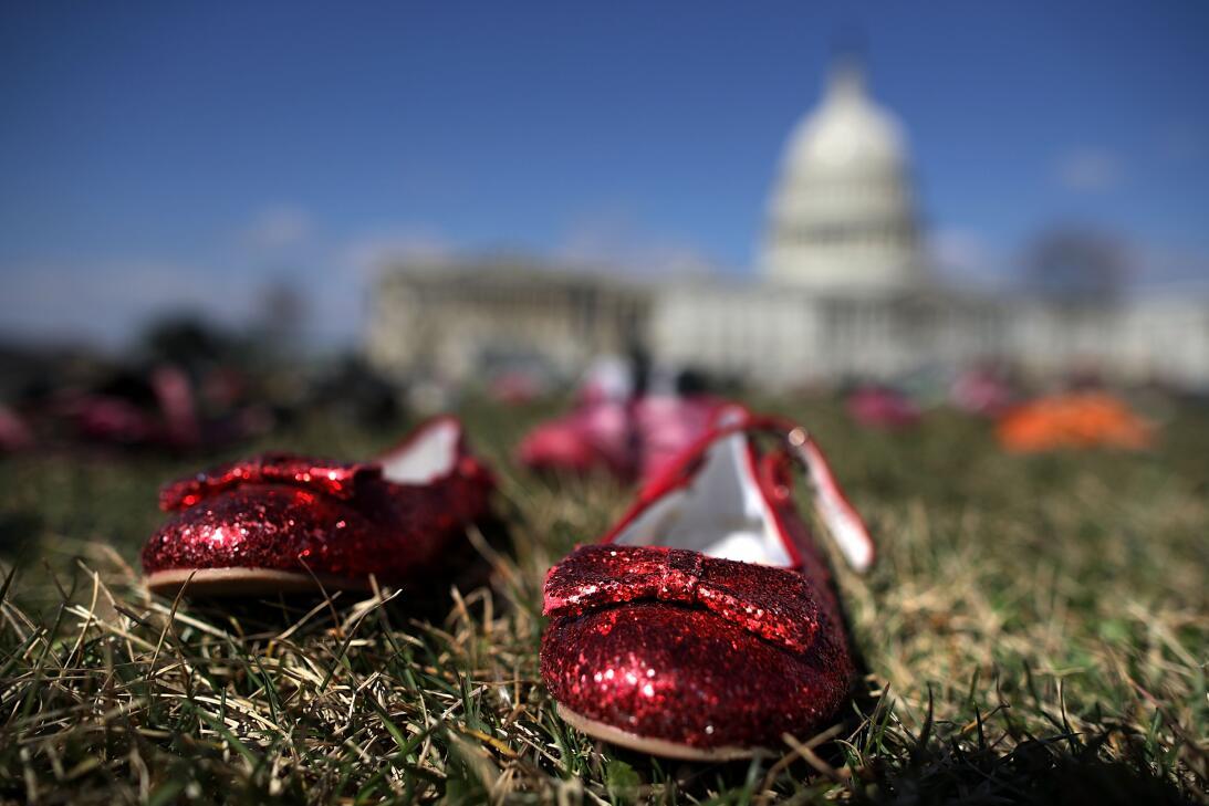 Protesta de zapatos en Washington
