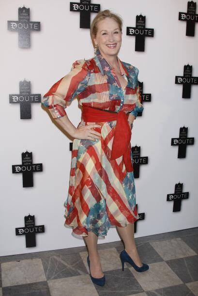 Meryl Streep también les pueda dar una idea de lo que es vestir e...