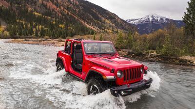 Estas son imágenes con detalles del Jeep Wrangler Rubicon 2018