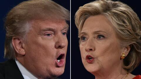 Hillary Clinton y Donald Trump se enfrentarán por tercera y última vez e...