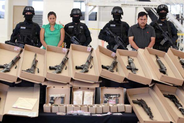 El arsenal está integrado por de 73 armas largas de alto poder, dos cort...