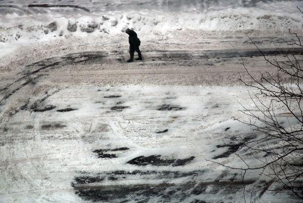La combinación de hielo y vientos de 48 kilómetros por hor...