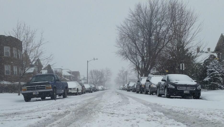 Foto de la tormenta en Indiana, condado de Lake.