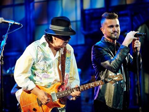 Carlos Santana y Juanes fueron los encargados de poner el toque musical...
