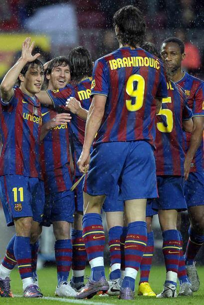 Y finalmente Pedro y Messi, por segunda ocasión, concretaron el 4-1 fina...