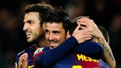 Los goles del 'Guaje' yde Messi, por partida doble, le dieron fomra a un...