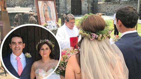 Abraham Ramos se casó con su novia de hace cinco años.