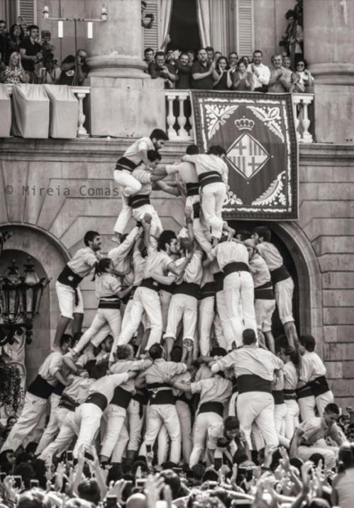 La imagen que Mireia Comás captó en las Fiestas de la Mercè en Barcelona...