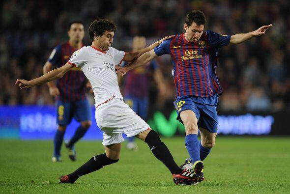 Barcelona no pudo empató con el Sevilla jugando de local en el Camp Nou....