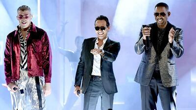 Latin GRAMMY 2018: Marc Anthony, Bad Bunny y Will Smith estrenaron 'Está rico' en vivo