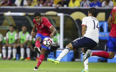 Johan Venegas abrió el marcador ante Colombia