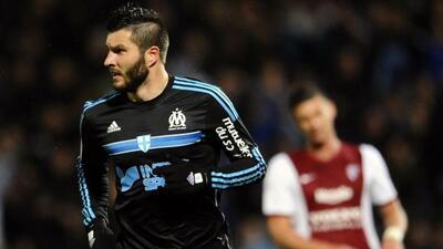 El internacional francés marcó un doblete en el triunfo del Olympique en...