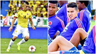 Mateus Uribe podría suplir a James Rodriguez en el once titular de Colombia ante Japón