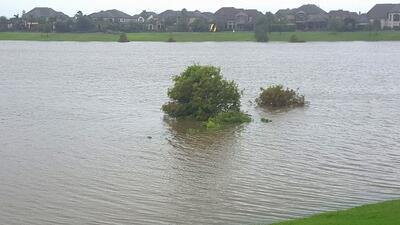 En fotos: Sube el nivel del agua al oeste de Houston