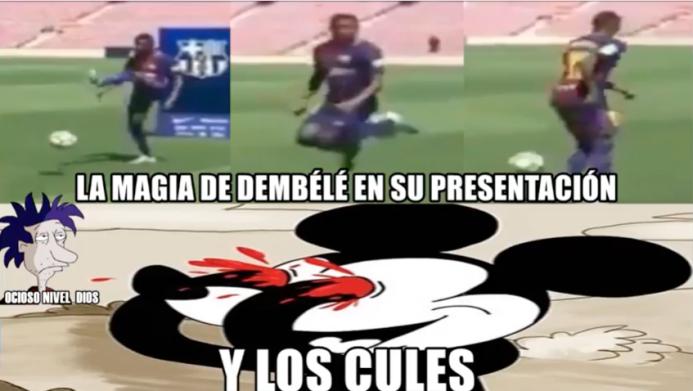 La presentación de Démbelé no escapó de las burlas de los memes Captura...