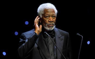 El actor Morgan Freeman en una ceremonia en Ginebra, Suiza.