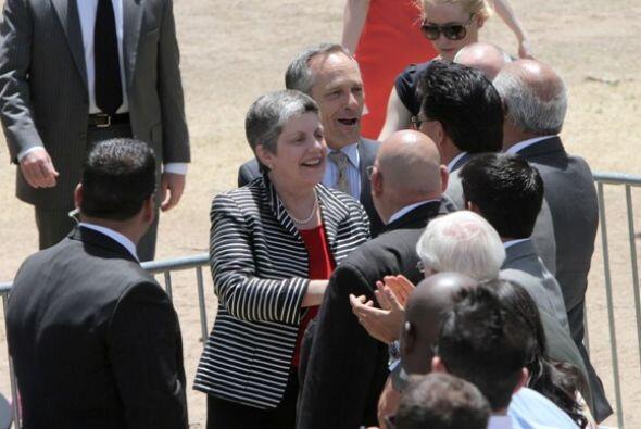 La llegada de la Secretaria de Seguridad Nacional, Janet Napolitano fue...