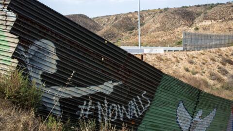 Zona de la frontera entre Tijuana y California, donde Donald Trump quier...