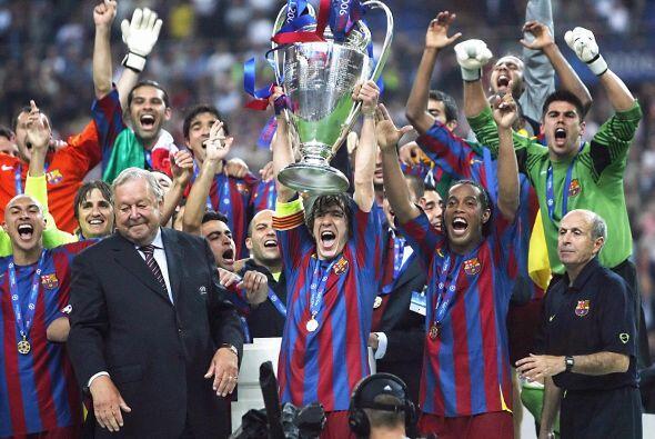 Puyol y compañía conseguían la segunda 'Champions' para la institución '...