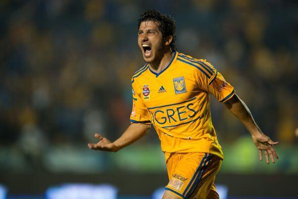 En el tercer lugar tenemos a los Tigres, el bicampeón de la Liga MX está...