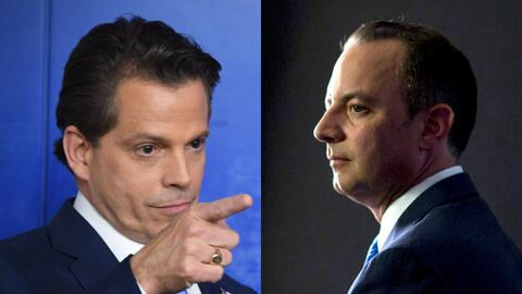 Anthony Scaramucci y Reince Priebus