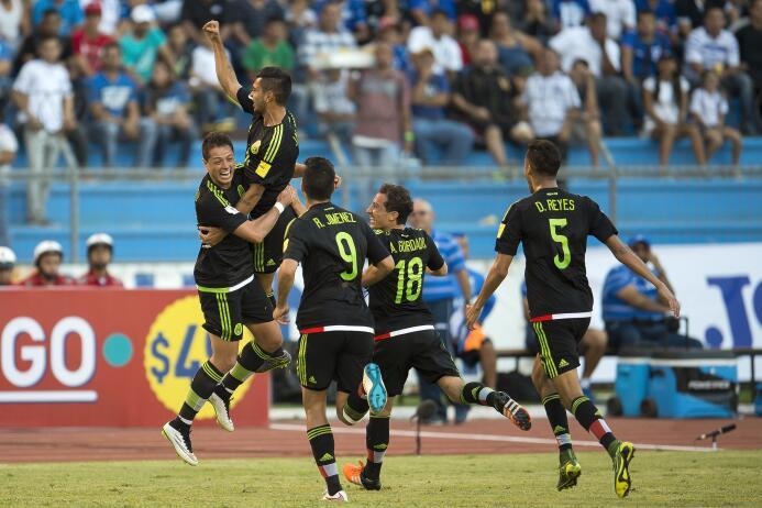 Honduras vs. México en San Pedro Sula.