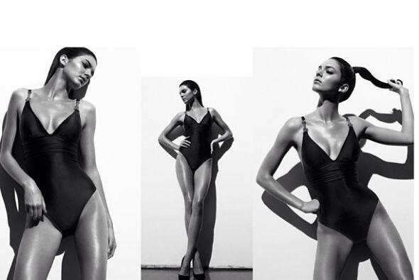 Recientemente posó desnuda en el catálogo 'Ángeles'...