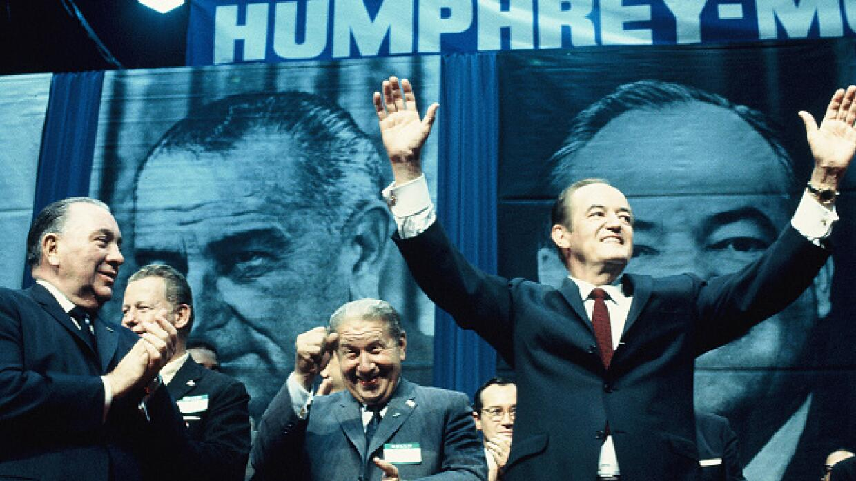 Hubert Humphrey, candidato presidencial demócrata 1968