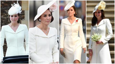 La duquesa de Cambridge utilizó el mismo vestido por cuarta ocasi...