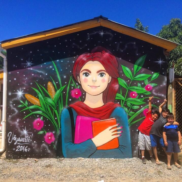Muralistas chilenas se organizan para tomarse las calles 12696954_918702...