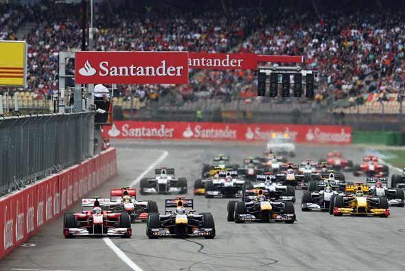 Vetter intentó tomar ventaja, pero tanto Alonso como Felipe Massa se le...