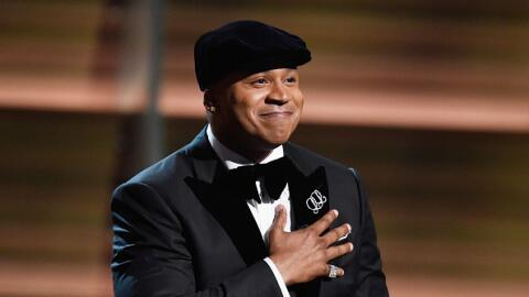 LL Cool J addresses the crowd as Host of the 2016 Grammys award show. He...