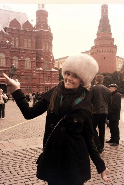 En Rusia, Fabiana pasó un rato muy divertido con sus nuevas amigas.