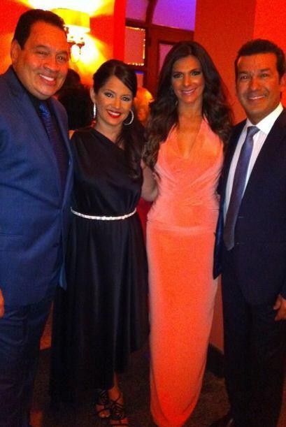 Bárbara Bermudo en la boda del cantante Gilberto Santa Rosa
