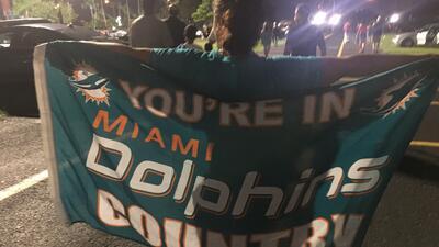 Desde la mirada de los fanáticos: así se vivió la fiesta de Dolphins-Falcons en la NFL