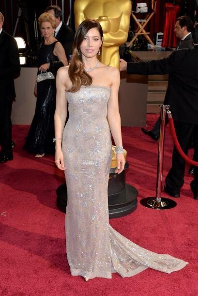 La elección de Jessica Biel fue un Chanel Couture, lo que hizo que estuv...
