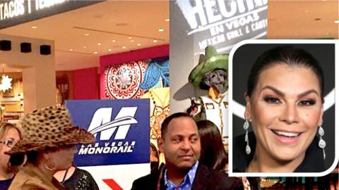 Olga Tañón encuentra a Cuco en Las Vegas y come tacos